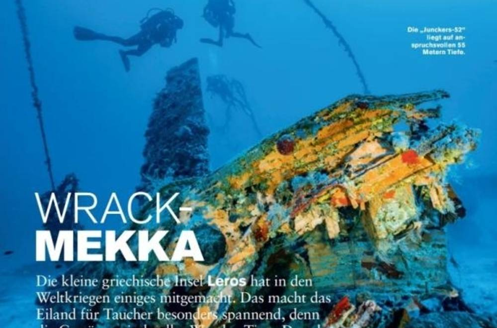 Underwater Treasures of Leros Highlighted in German Media