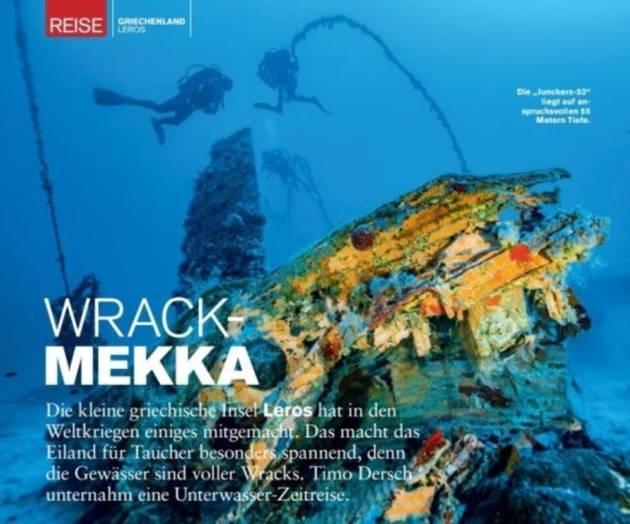 Underwater Treasures of Leros Highlighted in German Media